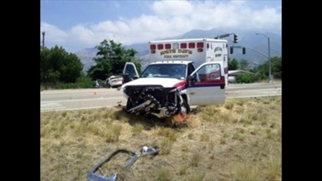 Ambulance transporting patient crashes in Ogden; one dead