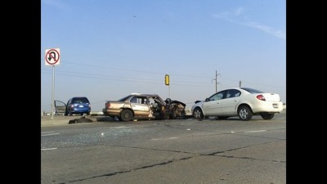 One dead, four injured in three vehicle accident