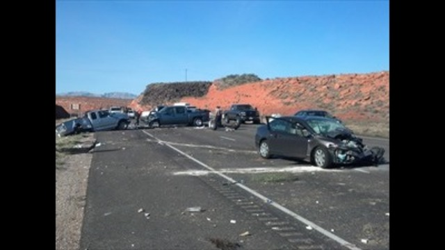 Up to seven hospitalized after Southern Utah crash