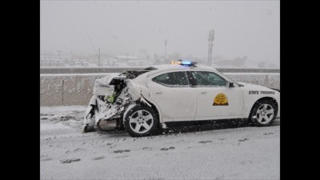 16TH UHP Trooper vehicle hit this year