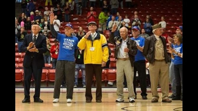 St. George veterans honored at Dixie State basketball game