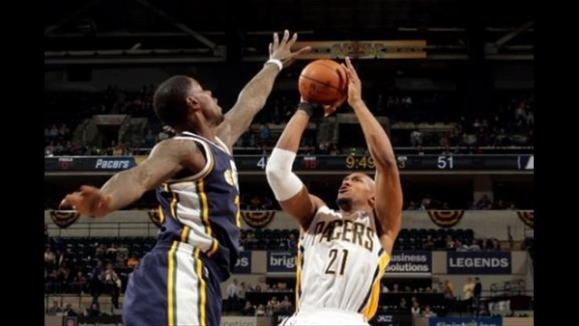 Jazz hang with Pacers before losing, 94-91