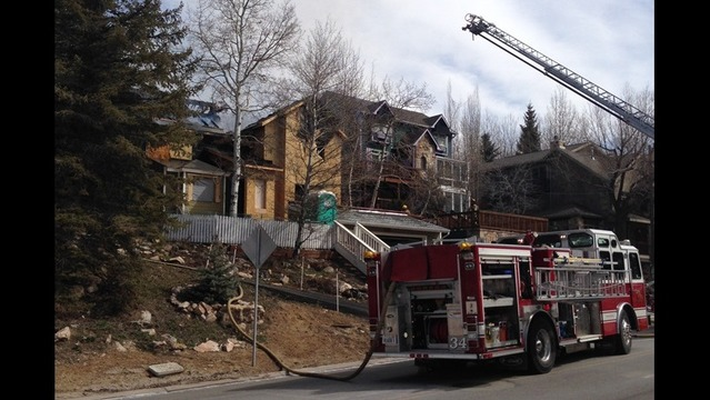 Fire at a home under construction in Park City