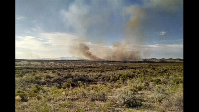 Wildfire burns near Dugway Proving Grounds