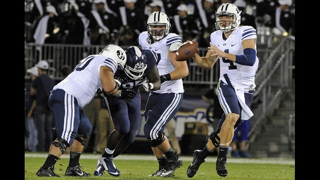 Taysom Hill accounts for five touchdowns in BYU's 35-10 romp past UConn