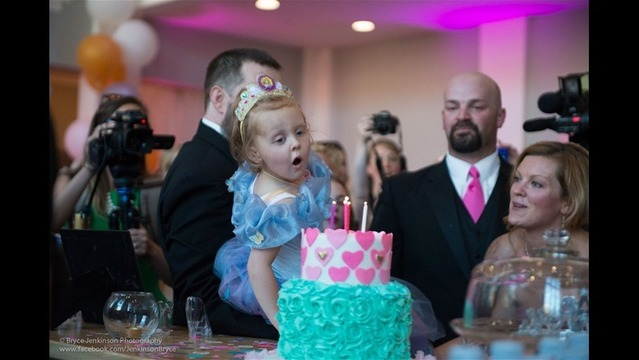 Girl, 5, with terminal cancer gets birthday party, prom, wedding rolled into one blowout event