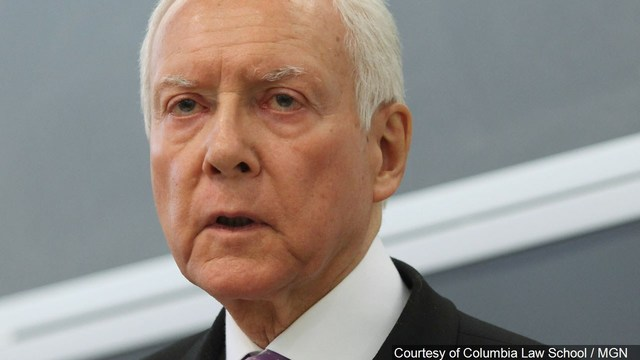 Orrin Hatch Jokes About Accidentally Removing Pair of Nonexistent Glasses: They're 'Invisible'