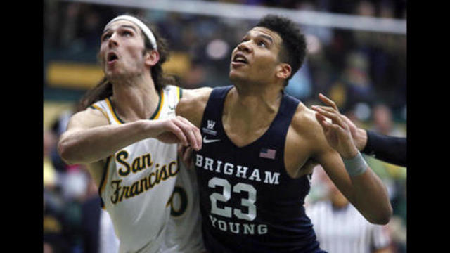 Yoeli Childs has career night in BYU victory over San Francisco