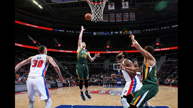 Jazz cruise past Detroit, 97-83, as Hayward pours in 25