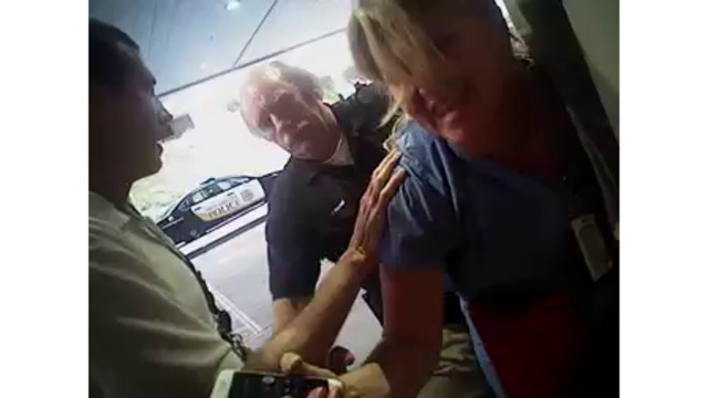 Police officer filmed arresting Utah nurse fired from paramedic job