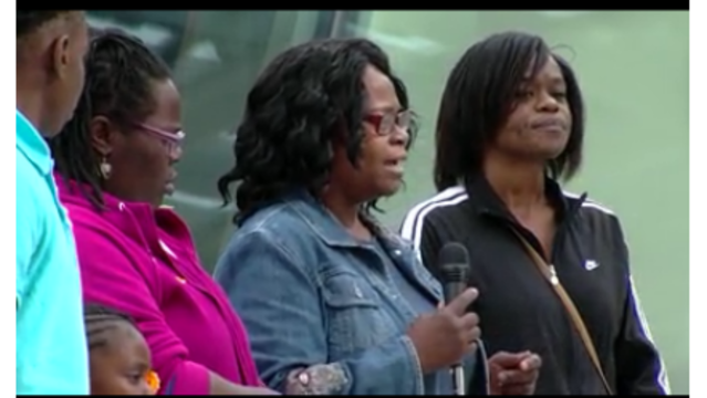 Dozens of protesters demand to see video of officer involved shooting