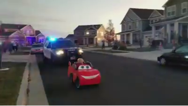 Layton officer pulls over toddler for distracted driving