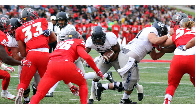 Utah State wins third straight road game, beating New Mexico, 24-10