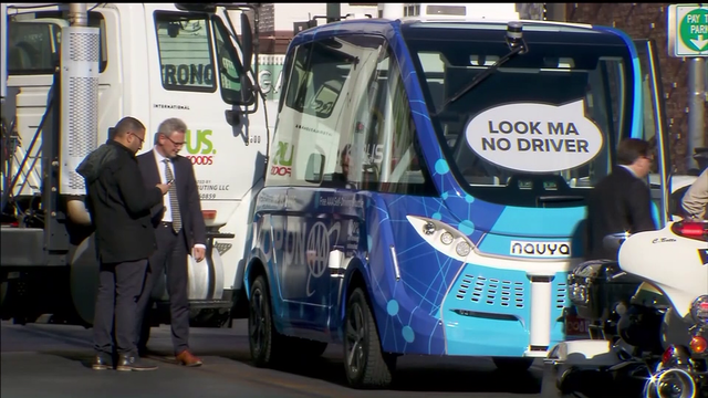 Driverless shuttle bus crashes on day of launch