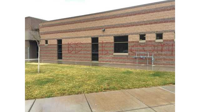 Vandals replace Hurricane High American flag with ISIS flag, spray-paint school wall