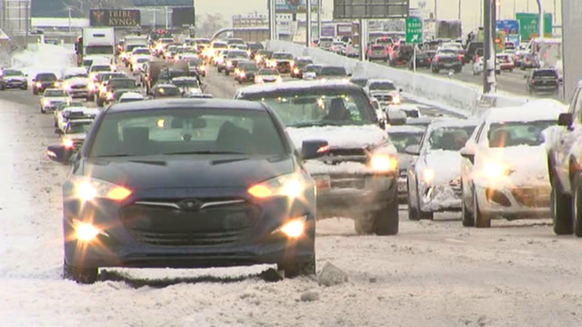 Snow and cold air will lead to slippery morning commute Friday morning