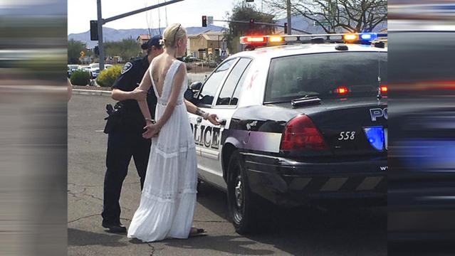Bride arrested for DUI after crash on the way to her wedding