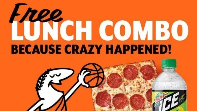 Little Caesars gives away free pizza Monday after historic March Madness upset