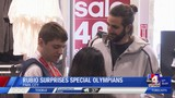 Utah Jazz guard Ricky Rubio steps up to help Special Olympians with the gift of athletic gear