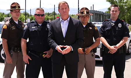 Don Hudson and Police Officers